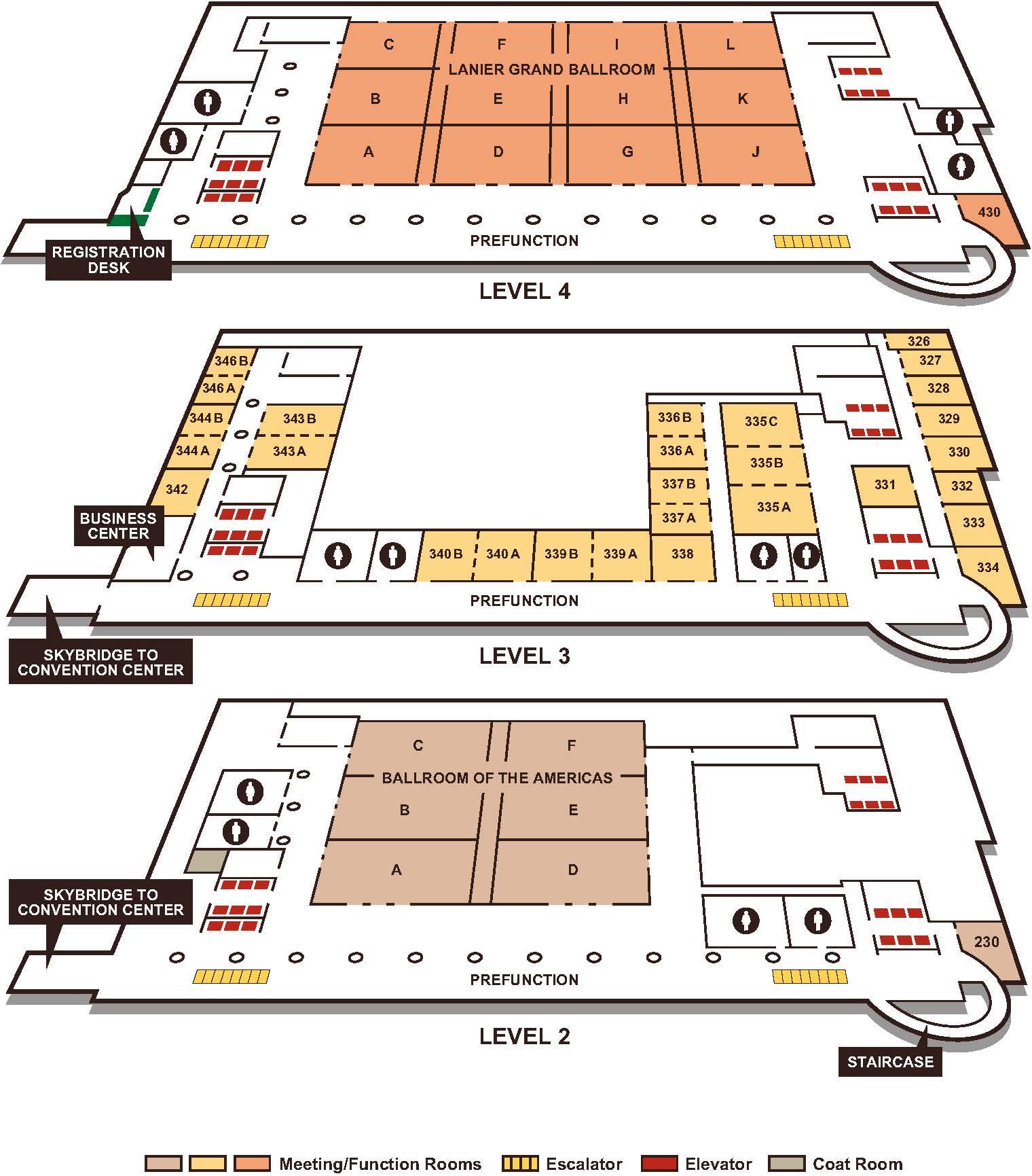 Map of hilton americas houston the world methodist for Americas best flooring